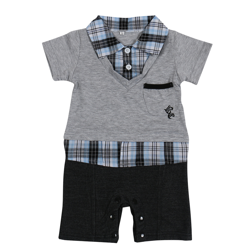 2017Hot-selling-Baby-romperBoys-clothing-set-baby-bodysuits-Polo-style-short-sleeved-Romper-Grey-and-Blue-colors-2