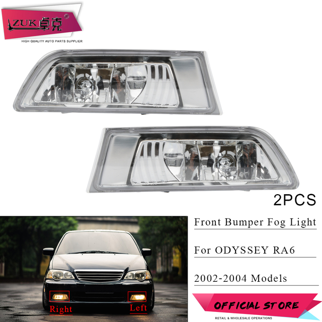 Zuk 2pcs Front Per Foglight Fog Light Lamp Headlight For Honda Odyssey 2002 2003 2004 Ra6 Oe 33951 S3r Q02 33901