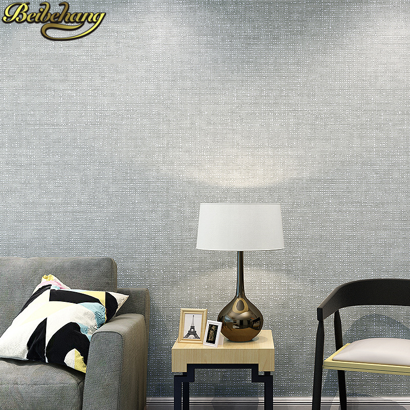 beibehang Nordic solid color wallpaper for walls 3d living room papel de parede para quarto wall papers home decor contact paper купить