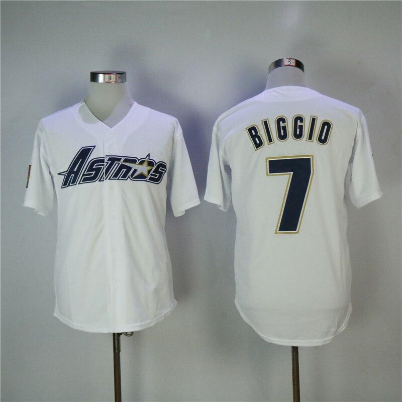 купить Men's Retro 1983 Craig Biggio Rainbow High Quality Pullover Throwback Baseball Jerseys Stitched Name&Number Size M-3XL по цене 1849.91 рублей