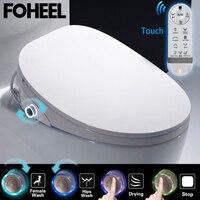 FOHEEL wc Авто спа Смарт сиденье для туалета крышка Умная Ручка светодиодный процессор крышка сиденья унитаза электронное биде для туалета чех