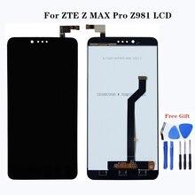 عالية الجودة ل ZTE Z ماكس برو Z981 شاشة الكريستال السائل حجم كبير مجموعة المحولات الرقمية لشاشة تعمل بلمس استبدال ل ZTE Z981 أجزاء الهاتف