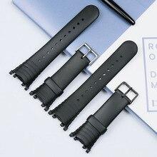 Accesorios de reloj para hombre, accesorio para reloj masculino con broche y correa de goma resistente al agua