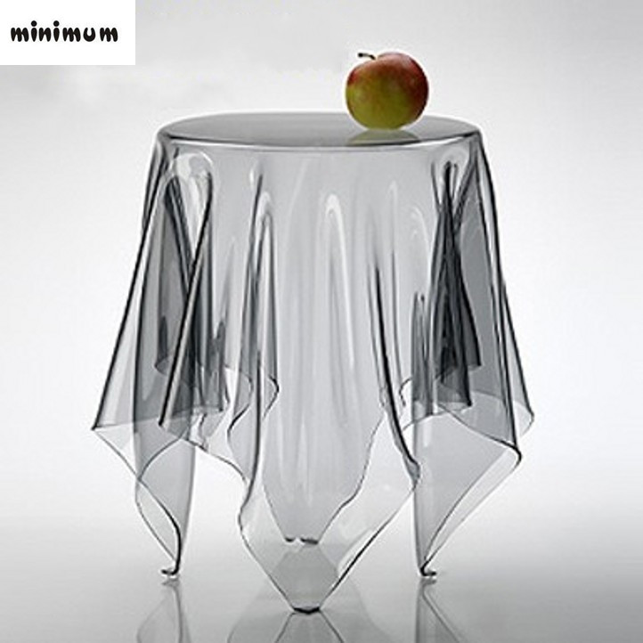 Ultra-thin Transparent PVC plastic waterproof Soft Glass round table cloth Sagging pvc cloth dining table Crystal pad background