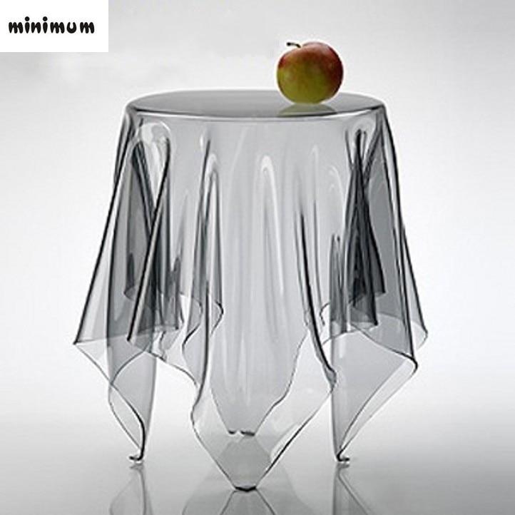 Ultra-nipis Telus PVC plastik kalis air Lembut kaca bulat meja kain Membungkus kain pvc meja makan Crystal pad latar belakang