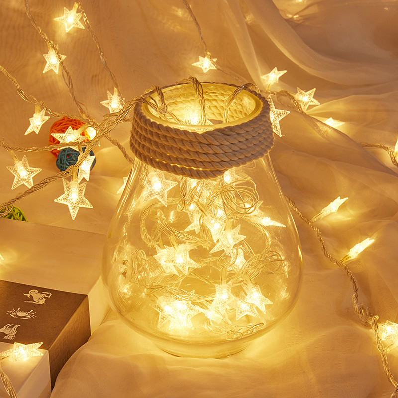 3M/6M/10M LED Star Christmas Tree String Fairy Lights Battery/USB Xmas Garland For Holiday Wedding Party Indoor Curtain Lamp