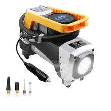 Pompe à Air de compresseur, pompe à Air avec jauge de fermeture automatique, système de gonflage numérique pour pneus, 12V DC, 120W, 150 PSI, puissant système durgence