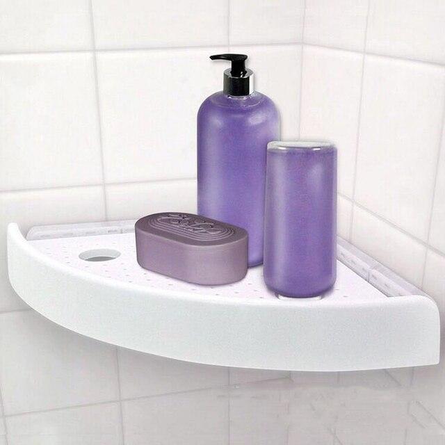 Corner Shelf Shower Strong Suction Stainless Steel Shelves Bathroom ...