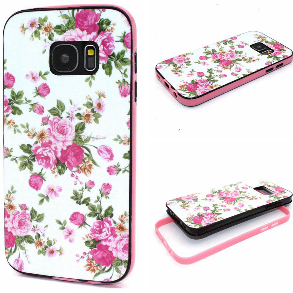 2017 New Luxury Carved Damask Vine Pattern Hard Case Cover For Samsung Galaxy S7 Era Wifi Cell Phone Android
