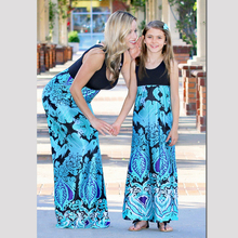 Summer Mother Daughter Dress Family Look Mommy and Me Clothes Mom Mum Mama and Daughter Print Dresses Matching Outfits Clothing