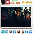 2017 El Más Nuevo de 10 pulgadas Tablet PC Android 6.0 Octa Core 4 GB RAM 32 GB ROM 5.0MP GPS 4G LTE 10.1 Phablet