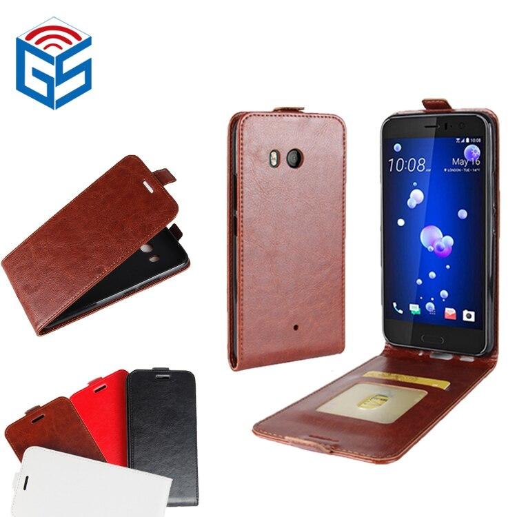 New Premium PU Leather Crazy Horse Pattern Cover Case For HTC U11 U 11 with Card Holder