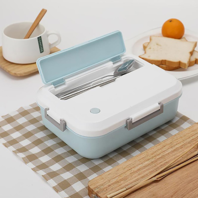 Microwaveable Lunch Box with Utensils Holder
