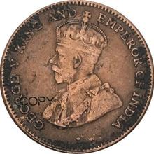 Проливы селения 1/4 четверть цента Джордж V 1883 красная медь копия монет