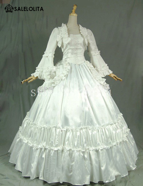 best seller white Rococo Gothic Victorian Dress women vintage ...