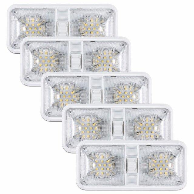 601116d5528 Kohree 5 paquetes 6 w coche 12 V Luz de techo LED remolque RV Camper las.  Sitúa el cursor encima para ...