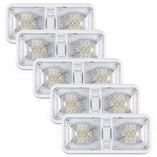 Kohree 5 packs 6 w 12 V Voiture lampe de plafond led Remorque RV Camper Voiture éclairages intérieurs luminaire Facile Installer Naturel Blanc