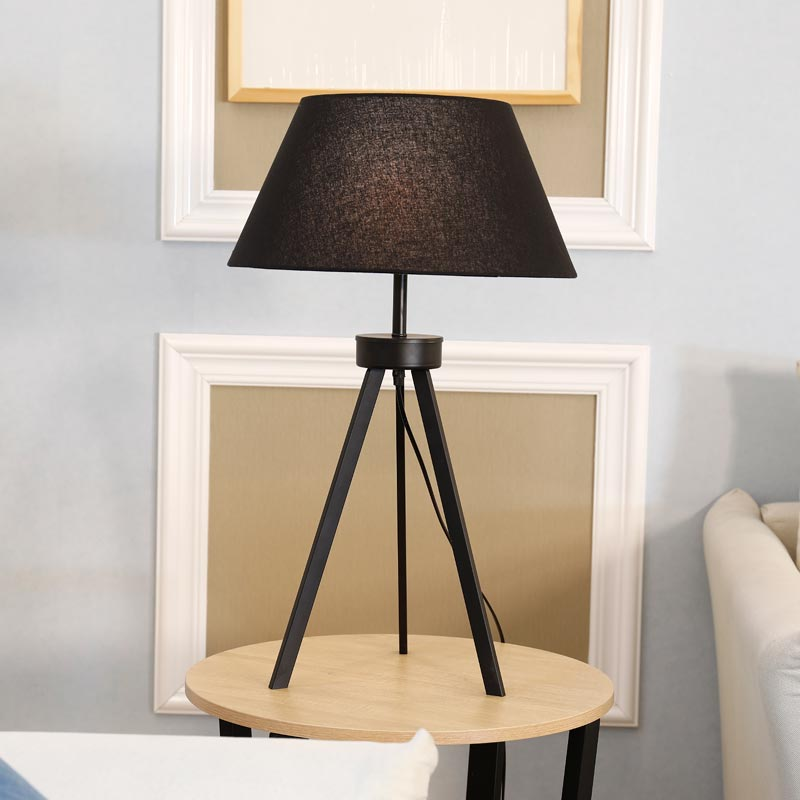 Modern Tripod Table Lamp For Living Room Bedroom Bedside Desk Light  Fixtrues White Fabric Lampshade Decor Home Lighting E27 In Table Lamps From  Lights ...