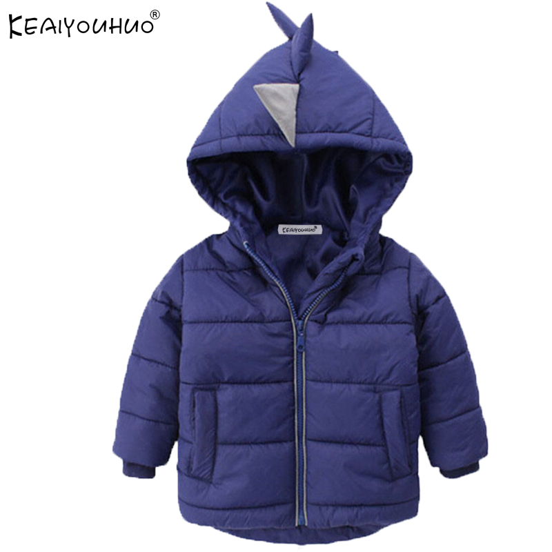 KEAIYOUHUO Brands Clothes Winter Boys Jackets Fashion Girls Coats For Kids Outerwear Children Clothing Hooded Warm