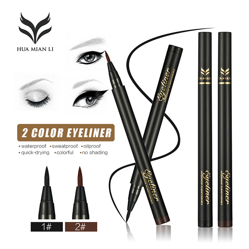 1PC Beauty Cat Style Black Brown 2 Color Long-lasting Waterproof Liquid Eyeliner Eye Liner Pen Pencil Makeup Cosmetic Tool