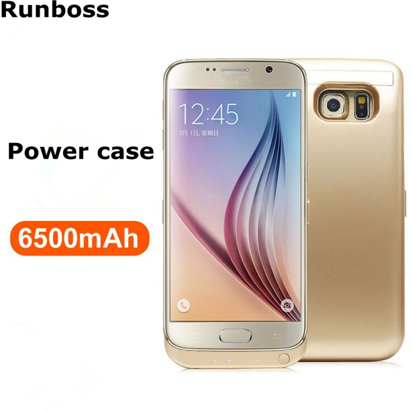 Runboss for Samsung Galaxy S6 Power Case 6500mAh Rechargeable Battery Charge Case for S6 G9200
