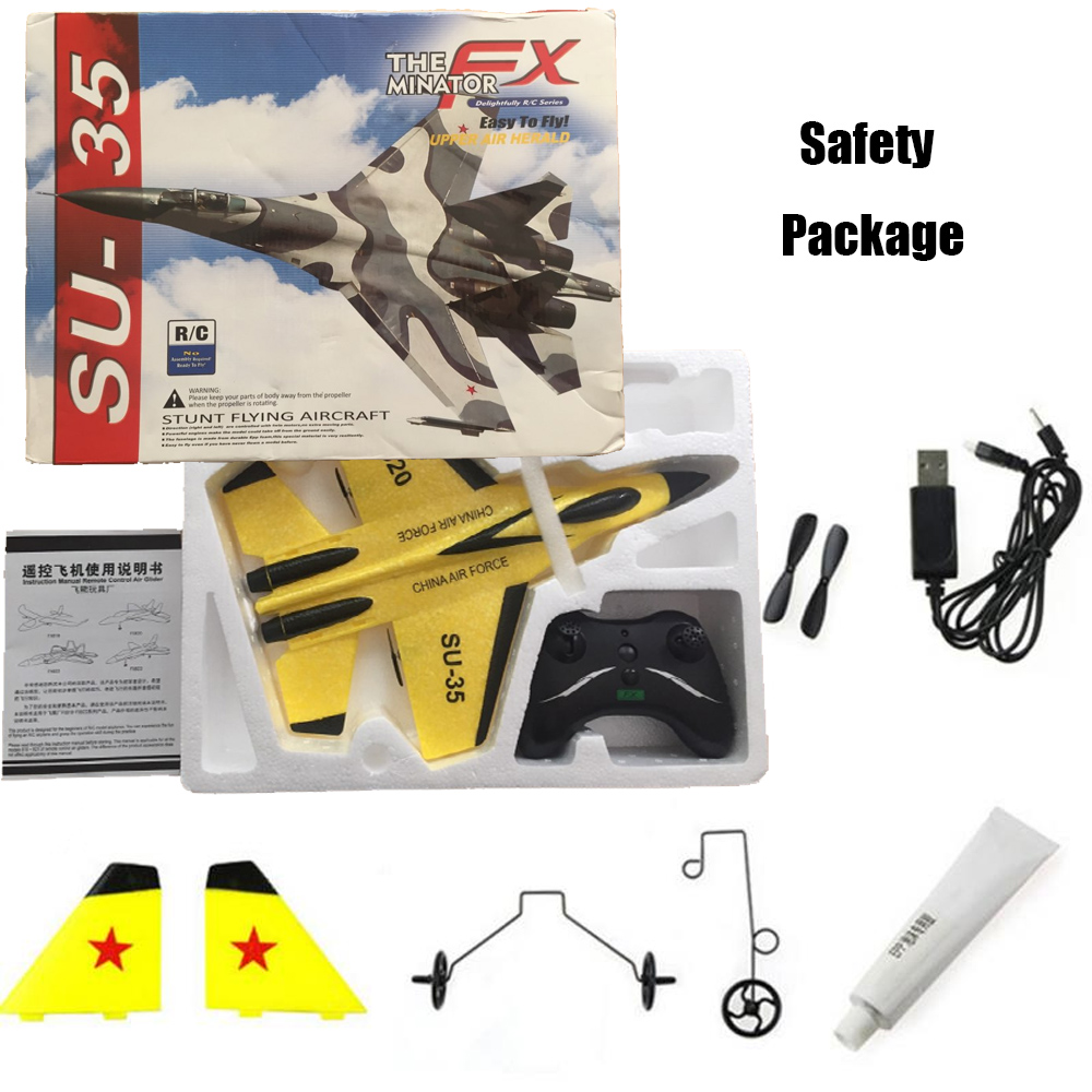 Image 5 - RC Plane Toy EPP Craft Foam Electric Outdoor RTF Radio Remote Control SU 35 Tail Pusher Quadcopter Glider Airplane Model for Boy-in RC Airplanes from Toys & Hobbies