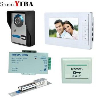 SmartYIBA 7 ''проводной цветной видеодомофон, дверной звонок, комплект ИК-системы для улицы с CCD камерой, 1 экран + 1 камера