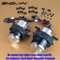 SINOLYN רכב HID bi-קסנון עדשת מקרן אורות ערפל נהיגה מנורות Retrofit לפורד/הונדה CRV Fit/סובארו/Renualt/סוזוקי סוויפט