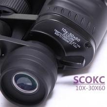 Scokc10-30X60 Hd power zoom binoculars Professional hunting telescope wide-angle High quality monocular telescope binoculars
