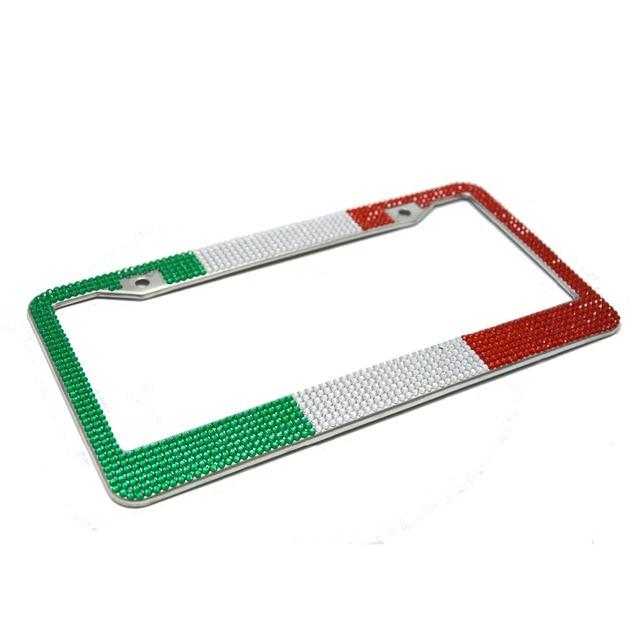 US Italy France diamond Bling Car License Plate Frame Holder Used ...