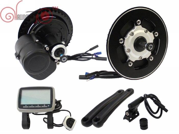 Livraison Gratuite TONGSHENG 48 V 500 W Brushless Indexé Moteur eBike Vélo Électrique DIY Kit Capteur de Couple VLCD5