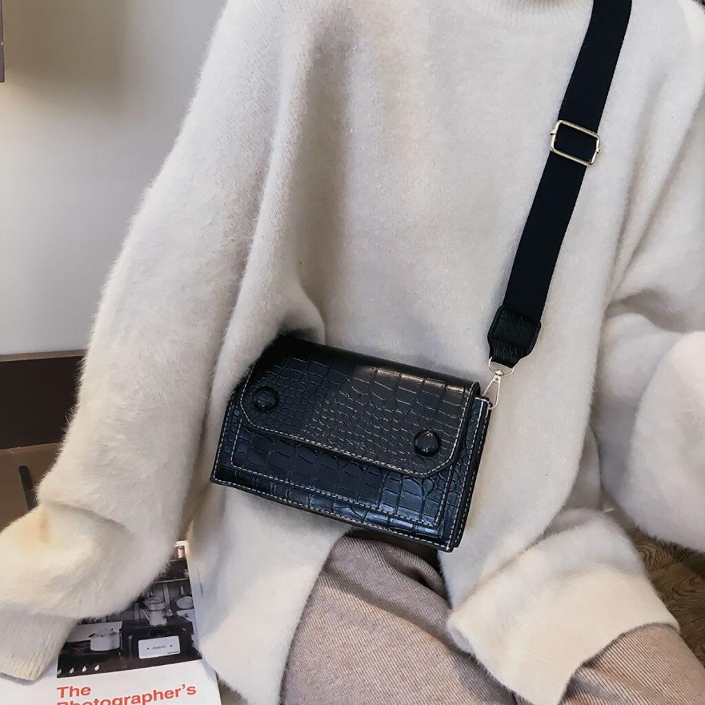 100% QualitäT 2019 Frauen Vintage Krokodil Muster Tasche Wilden Schulter Tasche Messenger Tasche Luxus Designer Sac Ein Haupt Femme De Marque Luxe Cuir Reisen
