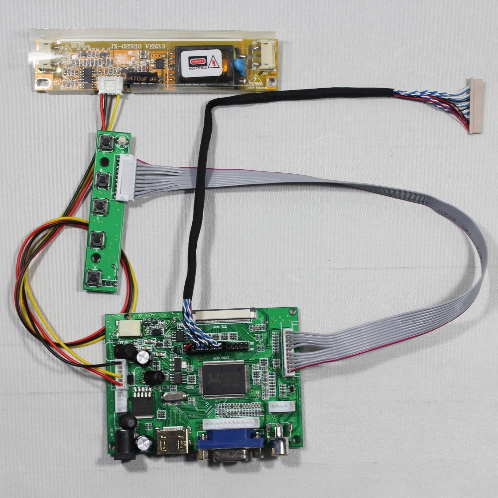HDMI+VGA+2AV LCD driver board work for 12.3inch 1280x480 LQ123K1LG03 lcd panel vga 2av revering driver board 8inch 800 600 lcd panel ej080na 05b at080tn52
