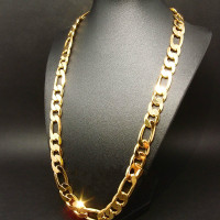 new! heavy 94g 10mm 24k yellow gold filled men's necklace curb chain jewelry