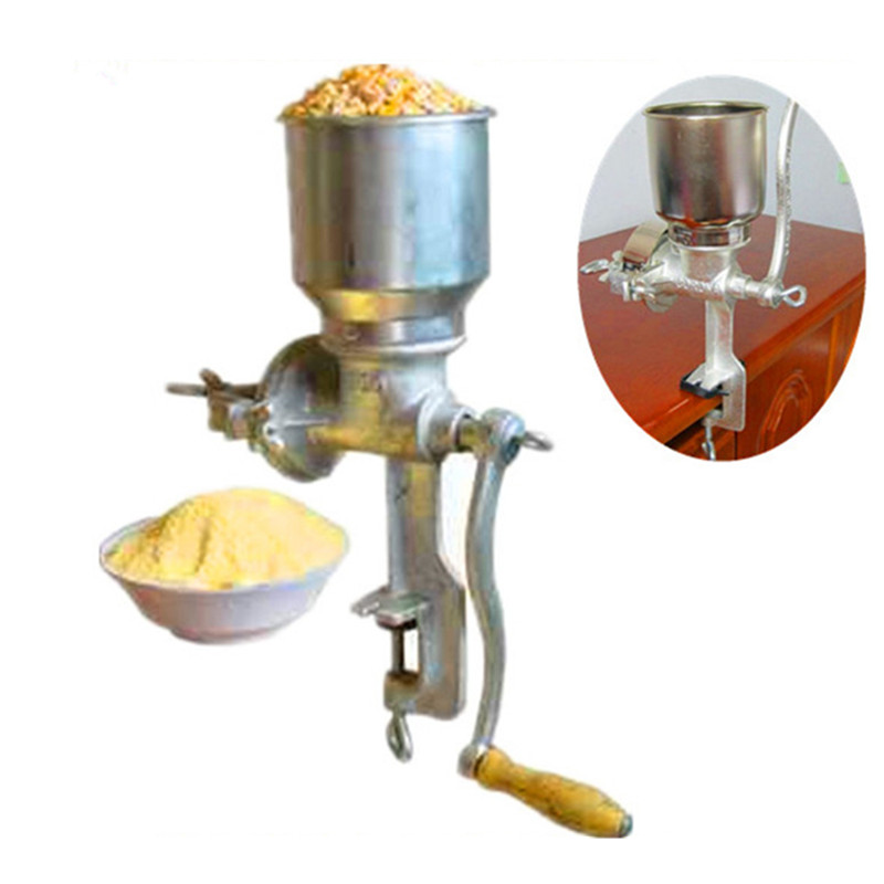 Multifunction corn flour mill machine home use manual maize rice soybean peanut coffee cocoa beans grain grinder multifunctional corn and rice puffing machine grain bulking extruder machine puffed maize snacks making machine zf
