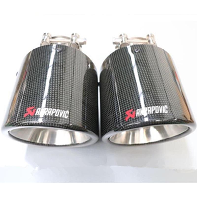Ingyenes szállítás: 1X 114MM kimeneti fényes szénszálas - Autóalkatrész - Fénykép 3