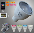 Mi Light 4W GU10 RGB+Warm White LED Bulb Dimmable 2.4G wifi RGBW spotlight Lamp New WIFI controller ibox by IOS Android