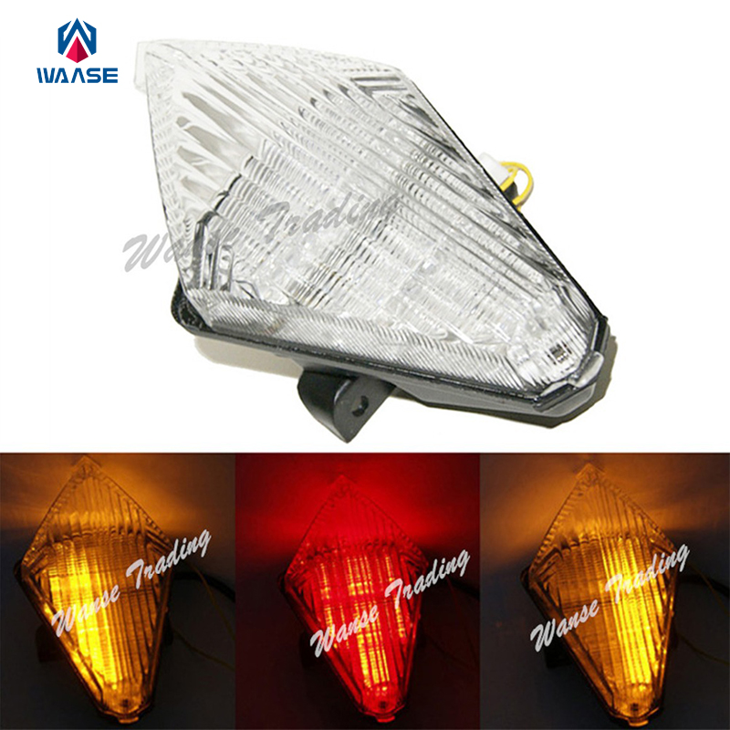 waase Rear Taillight Tail Brake Turn Signals Blinker Indicator Integrated Led Light font b Lamp b