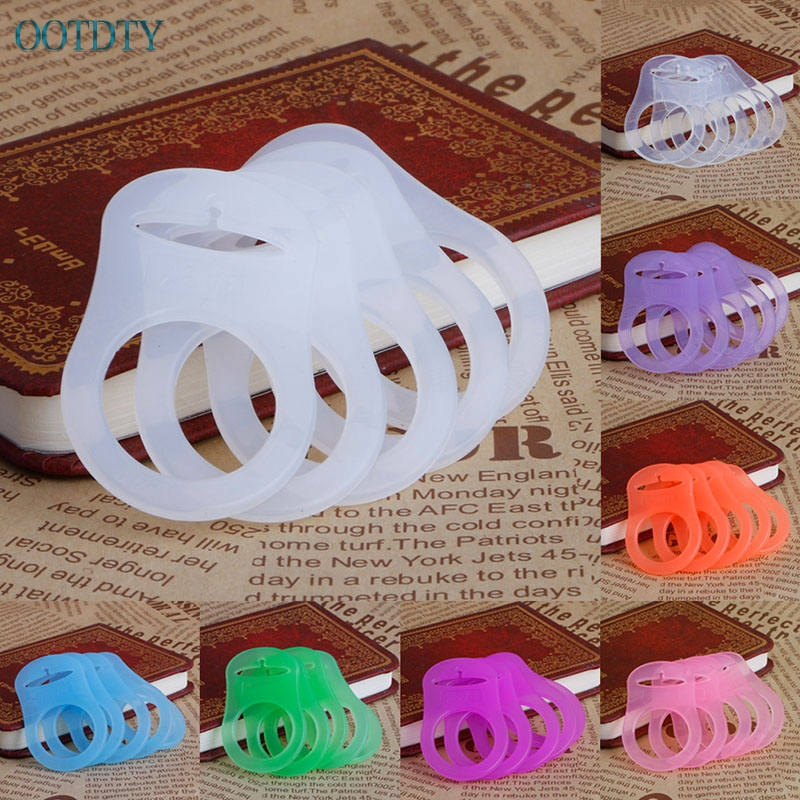 Hot 5Pcs Silicone Button Baby Dummy Pacifier Holder Clip Adapter For MAM Rings #330