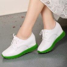 WOLF WHO Women Genuine Leather Shoes Ladies Casual Tenis Feminino Platform Female Krasovki Girl Shoes x125