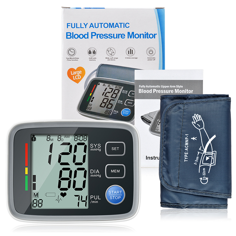 ELERA tensiometros Digital Upper Arm Blood Pressure Monitor Portable tonometer Sphygmomanometer Blood Pressure Pulse Meter blood pressure monitor automatic digital manometer tonometer on the wrist cuff arm meter gauge measure portable bracelet device