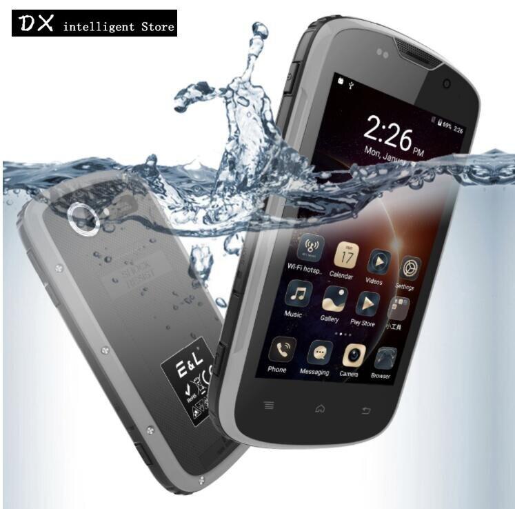 E & L EL W5 MTK6735M IP68 4g LTE Smartphones à prova de choque À Prova D' Água Quad Core 4.0 IPS 1 gb + 8 gb 5MP 3g Telefone Móvel Android 6.0 GPS