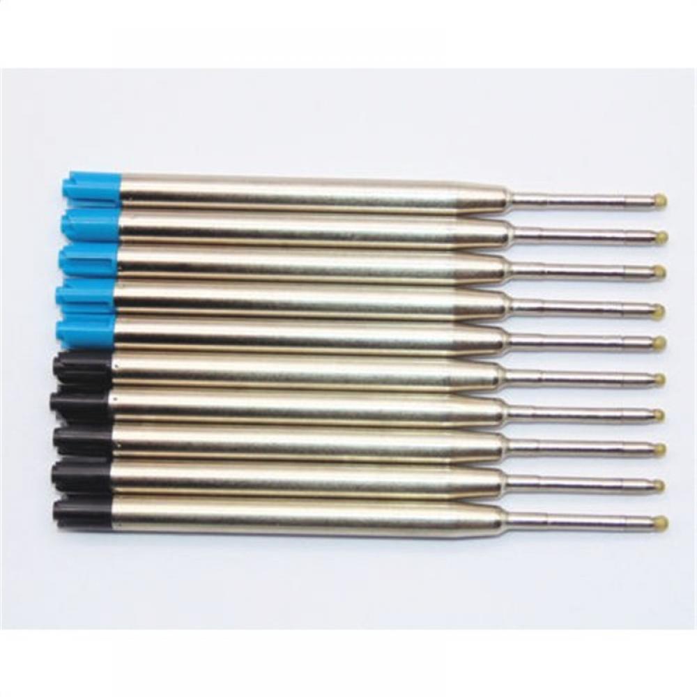 10Pcs/Set Fine Ballpoint Pen Refills Smooth Ink 0.5mm Blue/ Black Ink Refill Medium For Cross Style HOT