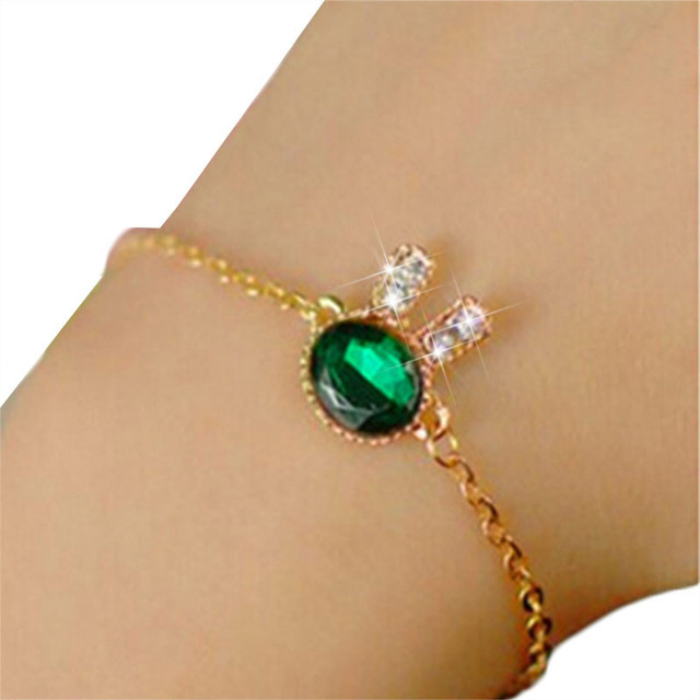 Animal Rabbit Crystal Bracelets For Women 4