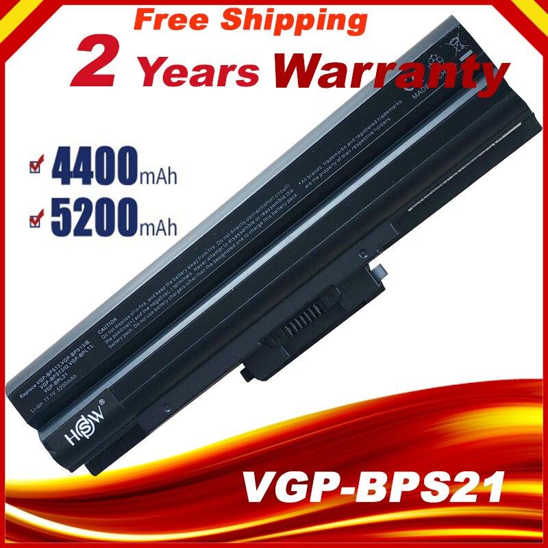 5200mAh Battery For SONY Vaio VGN-AW VGN-CS VGN-FW VGN-NS VGN-NW BPS13/B VGP BPS13/Q VGP-BPS13B/B VGP-BPS13A/B VGP-BPS13/B Black