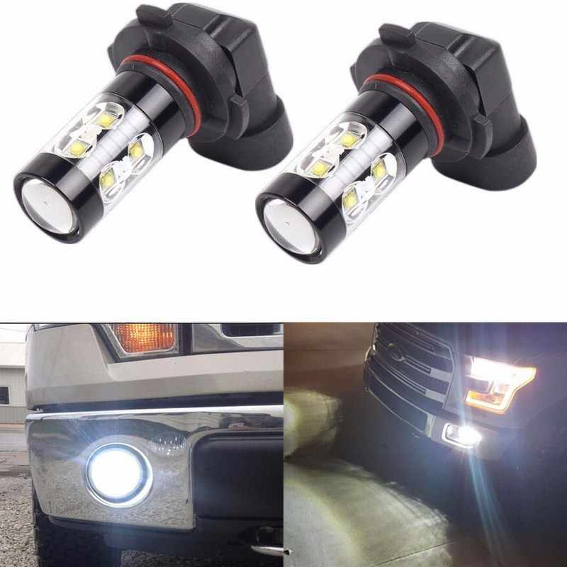2Pcs Car Fog Light Bulb 50W LED Headlamp 6000K H10 9145 9140 9040 9055 9155 9150 PY20D Auto LED Fog Light Bulbs Lamp Car Lights