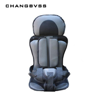 Pink Gray Color Sky Blue Gray Color Baby Car Seat Convertible Nice Quality PP Cotton Filling