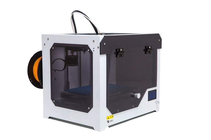 2015 HIC Upgraded Full laser cutting metal Structure Baby COW 3D Printer with heat insulating Acrylic cover