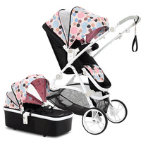 Французский Babysing Детские песни/рифмы [mgo] Высокая Пейзаж детская тележка может сидеть и лежать с спальный корзины.