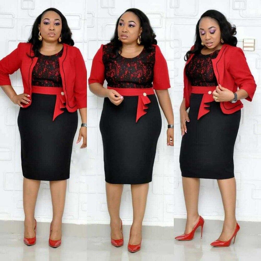 Dentelle robe rouge festa femmes africaines vêtements dashiki bazin riche robe de dame robe florale vente 2019 automne robes d'été